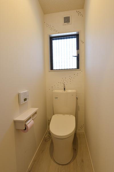 トイレは珪藻土で仕上
